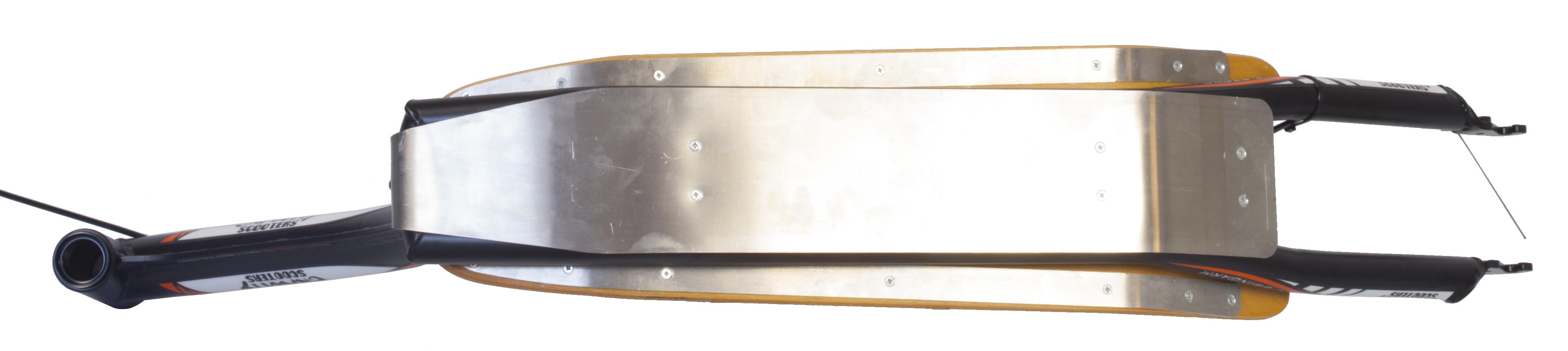 Sjezdová koloběžka Gravity Iron Cols – spodní část stupátka